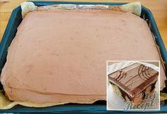 Úžasný tvarohový koláč z hrnku s polevou ze zakysané smetany   NejRecept.cz Izu, Dessert Recipes, Food And Drink, Dairy, Cheese, Mini Pavlova, Tiramisu, Sheet Cakes, Simple Cakes