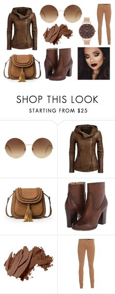 """""""Monokrom, brown!"""" by linus-isotalus on Polyvore featuring Victoria Beckham, Frye, Bobbi Brown Cosmetics, AG Adriano Goldschmied and Olivia Burton"""