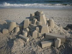 Gli incredibili castelli di sabbia architettonici di Calvin Seibert