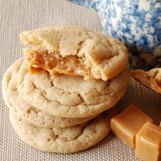 #Caramel stuffed #apple cider #cookies ;@Kellyn Sirach we must make these