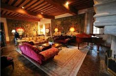 A succesful refurbishment of a medieval living room Historical interior Floor lounging French country house
