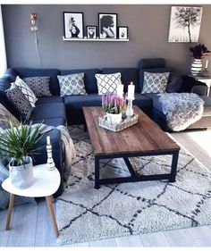 18 cozy small living room decor ideas for your apartment Apartment living room decor ikea curtains 24 Super Ideas. Living Room Grey, Small Living Rooms, Living Room Sofa, Living Room Designs, Dining Room, Modern Living, Cozy Living, Modern Room, How To Decorate Small Living Room
