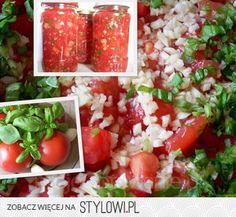 pomidory z bazylią na zimę