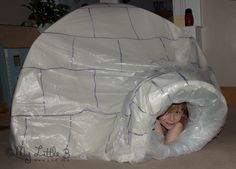 How to customise a play tent to make an indoor igloo from My Little 3 and Me.