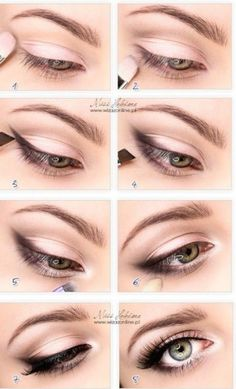 Make-up - Braut Mit Sass Wedding Day Makeup Eye enlarging makeup tutorial. Also, I read somewhere that priming with a white (thick) liner can make that metallic color stay longer without fading. Romantic Eye Makeup, Simple Eye Makeup, Small Eyes Makeup, Eyeliner For Small Eyes, Quick Makeup, Simple Eyeliner, Bigger Eyes Makeup, Natural Eye Makeup Step By Step, Everyday Eyeliner