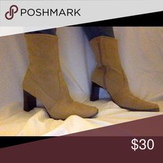 Vintage suede sock boots Tan suede sock boots. Vintage. Size 7. Shoes Ankle Boots & Booties
