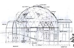 Elevation1 Dome Homes, Geodesic Dome, Brickwork, Home And Away, House Plans, Buildings, Louvre, Floor Plans, Spaces