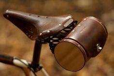When it's time to saddle up and ride, keep your mechanical steed distinguished with the Seat Barrel Bag by Walnut Studio. This classy bike bag is hand-finished and hand-stitched, with sides made of aromatic Northwest-grown FSC-certified cedar and body made from stiff vegetable-tanned leather.