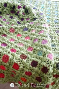 Crochet Pattern Monet's Garden Throw Afghan di FeltedButton