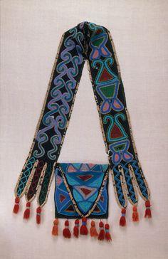 Seminole bandolier bag, ca??