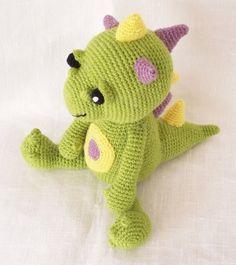 Dragon Pattern, Crochet Pattern, Stuffed Dragon Toy
