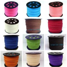 3mm-Genuine-Leather-Cord-Suede-Lace-Jewelry-Making-Beading-Thread-flat-DIY-HGR