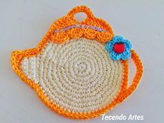 Tecendo Artes em Crochet: Saindo do Forno - Porta Copos Bule