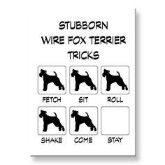 Kühlschrank-Magnet Wire Fox Terrier stur Tricks von WagWhimsy