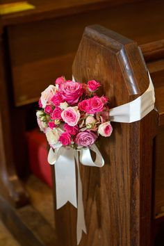 Cotswold, England Wedding from Catherine Mead Photography Wedding Pews, Wedding Ceremony Flowers, Wedding Pew Markers, Ceremony Decorations, Style Me, Mead, Floral Design, Pretty, Photography