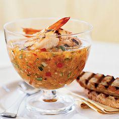 Grilled Shrimp Gazpacho | Coastalliving.com