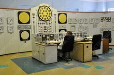 The central control room of the world's first nuclear power plant, Obninsk, which was decommissioned in 2002.