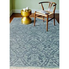 """Bashian Rugs Artifact Hand-Knotted Teal Area Rug Rug Size: Runner 2'6"""" x 8'"""