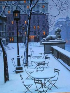 NYC in winter.