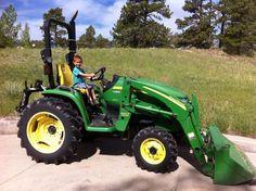 John Deere! Eathen loves his ride;)