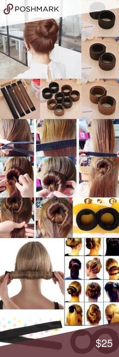The Perfect Bun Maker Perfect bun maker! Coffee color is very dark brown and blonde is light/medium blonde. Reasonable offers accepted. Accessories Hair Accessories