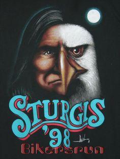 Sturgis '98 David Mann Art, Biker, Motorcycle, Posters, American, Motorcycles, Poster, Motorbikes, Billboard