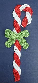 Candy Cane Crochet Bookmark Kit - would be a cute ornament too. Kit includes the pattern and threads.