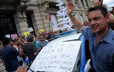 'Los hago responsables de la vida y los bienes de las personas', avisó Bonfatti.