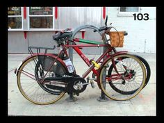 Get a bike. Lock it to a post. Take a pic every day for a year. And this is what happens