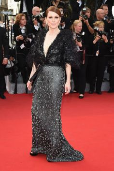 See all of the best dressed red carpet fashion from Cannes: Julianne Moore