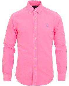 Polo Ralph Lauren Slim Fit Oxford Shirt Electric Pink i gruppen Skjortor / Casual Skjortor hos Care of Carl AB (11591011r)