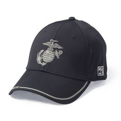 edfe6d4cac8 Reflective Cover Hat with Eagle Globe and Anchor