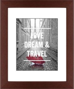 Red Umbrella in Paris Framed Print, Brown, Contemporary, Black, White, Single piece, 11 x 14 inches, White