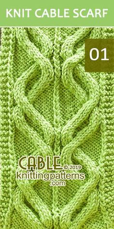 Double Waves Cable Scraf, its FREE. Advanced knitter and up.