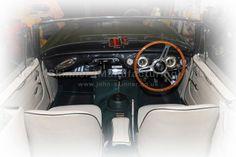 BJ7 - Front Seat Covers & Door Panels & Quarter Panels - Parchment & Dark Green