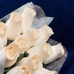 Bakers Dozen Bouquet of 13 IvoryWhite Wood Roses -- Check out the image by visiting the link.