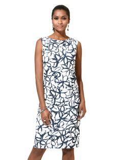 e54b76a56f00 Damen Alba Moda Kleid allover im floralen Print weiß   04055716486835 -  Kategorie  Damen Bekleidung