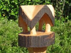 birdfeeders / Home English Wood Carving, Bird Houses, Art Forms, Wood Art, Wood Crafts, Projects To Try, Home And Garden, Woodworking, Sculpture