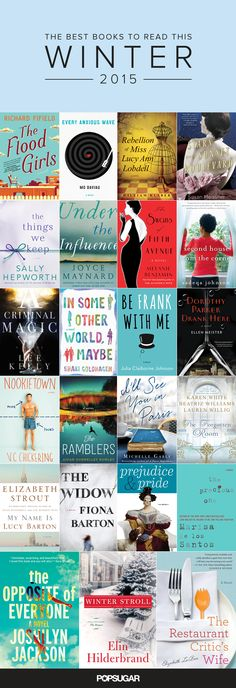 23 Books You Should Read This Winter - January 2016 Book Club (Error in title of the pin, reads 2015 but should be 2016)