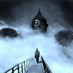 Buddha in the mist