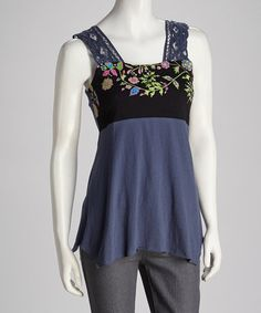 Take a look at this Black Lace Tank by Coline USA on #zulily today!
