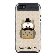 Cute Owl with Mustache and Hat Skinit Case For iPhone 5