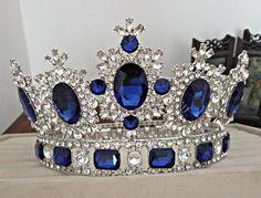 Rhinestone tiara wedding crowns Queen/King head crown gold/silver – Wedding For My Life Head Jewelry, Royal Jewelry, Rhinestone Headband, Crystal Rhinestone, Rhinestone Wedding, Tiaras And Crowns, Pageant Crowns, Head Crown, Crown Hair