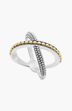 Free shipping and returns on LAGOS 'Enso' Caviar Crossover Ring at Nordstrom.com. Signature caviar beading textures an elegant X-shaped ring designed with effortless two-tone versatility.