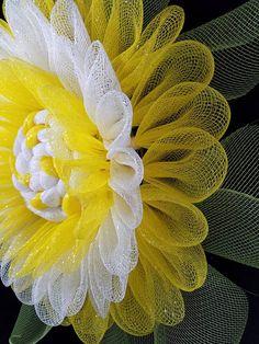 Yellow Sunflower Wreath mesh sunflower wreath summer