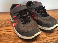 543562c73edf Nike Kids Boys Sneakers Size 1 Youth Grey Orange Revolution 2  fashion   clothing