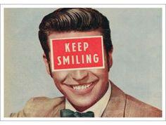 kaart 'Keep smiling'