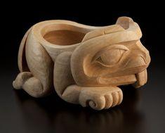 Little Beaver Bowl by Nathan Wilson, Haisla artist American Indian Art, Native American Art, Wood Sculpture, Sculptures, Haida Art, Native Design, Nativity Crafts, Art Carved, Crafts Beautiful