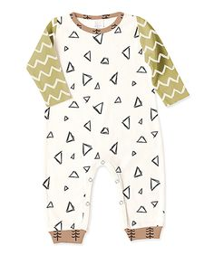 This Tesa Babe Gold Triangles Romper - Infant by Tesa Babe is perfect! #zulilyfinds