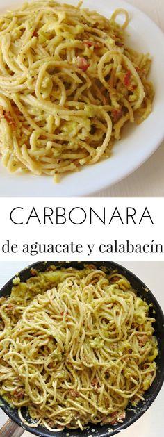 Carbonara de aguacate y calabacín | Tasty details